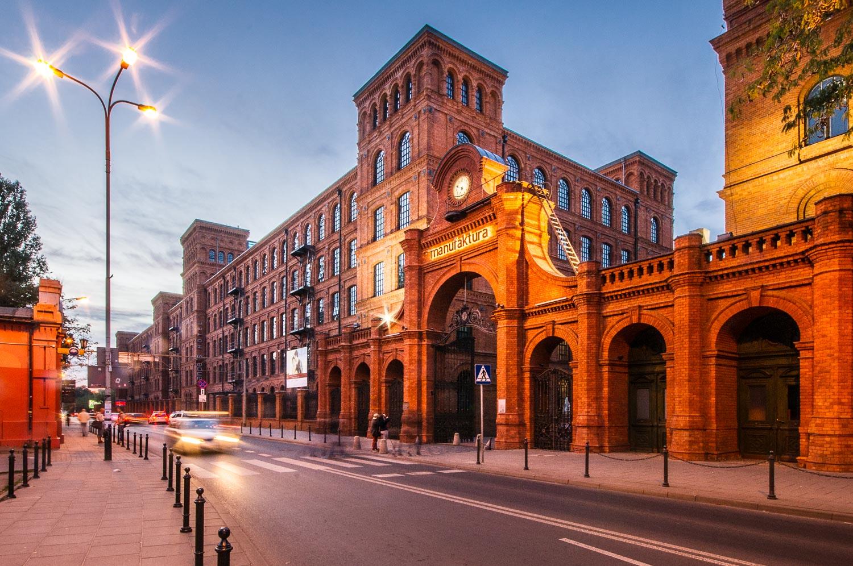 Brama wejściowa do Manufaktury i hotel Andels Łódź